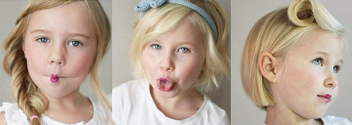 Детские прически для редких волос